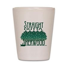 Straight Outta Sherwood Shot Glass