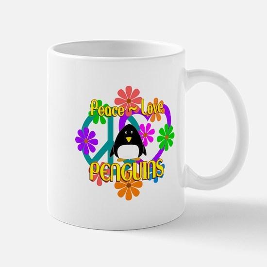 Peace Love Penguins Mug