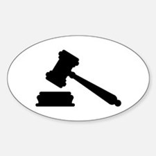 Judge hammer Decal