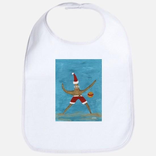 Christmas Starfish Bib