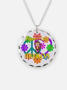 Peace Love Monkeys Necklace