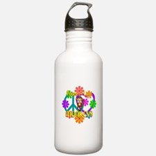 Peace Love Monkeys Water Bottle