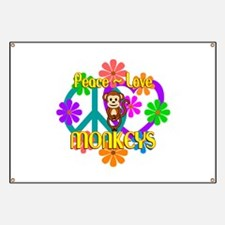 Peace Love Monkeys Banner