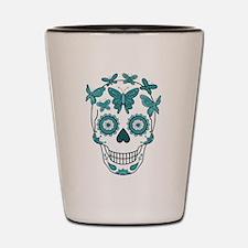 Funny Mexican sugar skulls Shot Glass
