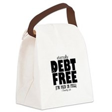 Eternally Debt Free... Paid i Canvas Lunch Bag