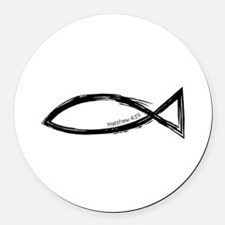 FishMatthew4-19_4Light.png Round Car Magnet