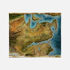 Thedas Map Throw Blanket