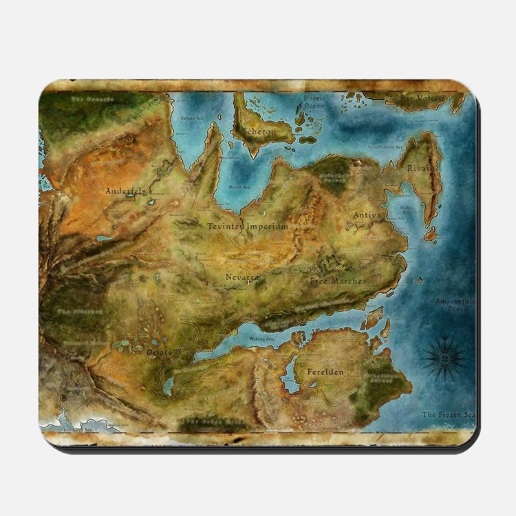 Thedas Map Mousepad