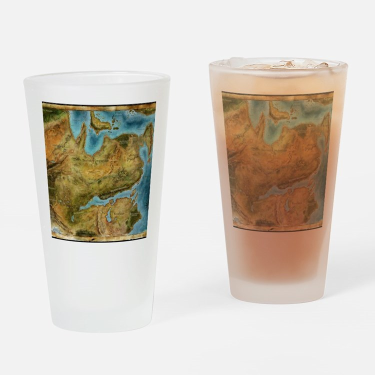 Thedas Map Drinking Glass