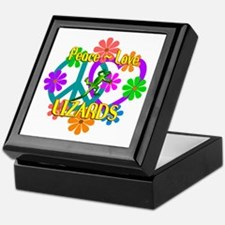 Peace Love Lizards Keepsake Box