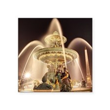 "Fontaine des Fleuves Place  Square Sticker 3"" x 3"""