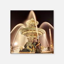 """Fontaine des Fleuves Place  Square Sticker 3"""" x 3"""""""