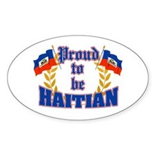 Proud to be Haitian Oval Decal