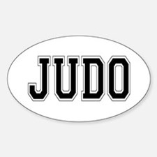 Judo Oval Decal