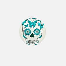 Unique Day of the dead skulls Mini Button