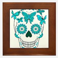 Cool Mexican sugar skulls Framed Tile