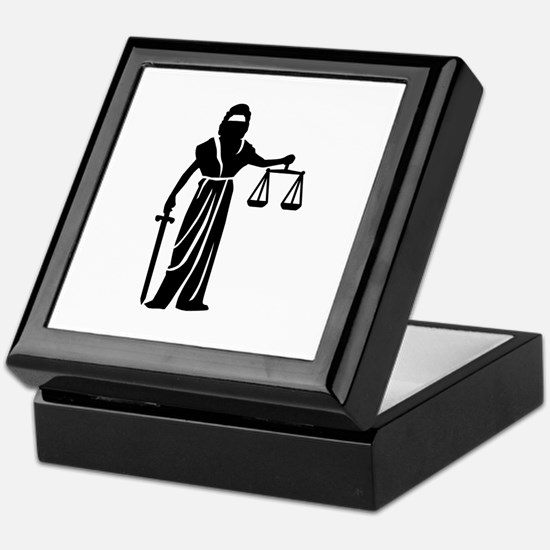 Justitia court Keepsake Box