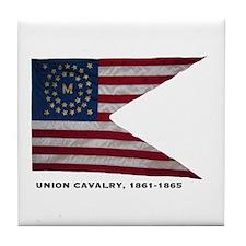 Union Cavalry Tile Coaster