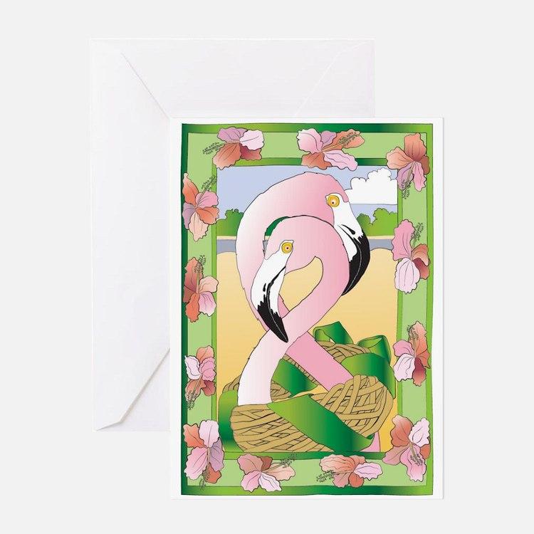 Flamingos Forever Greeting Cards