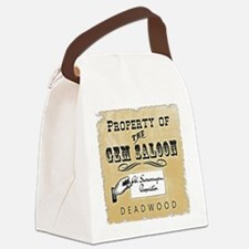 Gem Saloon Deadwood Canvas Lunch Bag