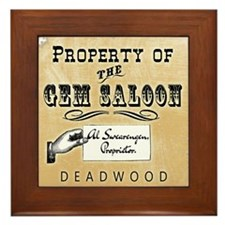 Gem Saloon Deadwood Framed Tile