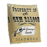 Deadwoodtv Burlap Pillows