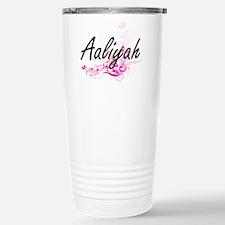 Aaliyah Artistic Name D Stainless Steel Travel Mug