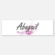Abagail Artistic Name Design with F Bumper Bumper Bumper Sticker