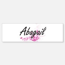 Abagail Artistic Name Design with F Bumper Car Car Sticker