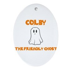 Colby the Friendly Ghost Oval Ornament