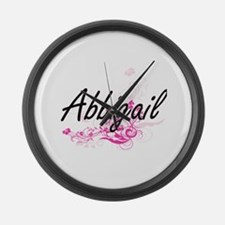 Abbigail Artistic Name Design wit Large Wall Clock