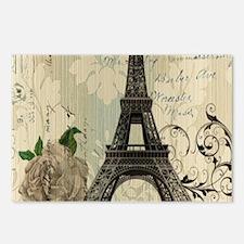 floral paris vintage eiff Postcards (Package of 8)