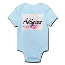 Addyson Artistic Name Design with Flower Body Suit