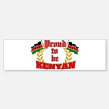 Proud to be Kenyan Bumper Bumper Bumper Sticker