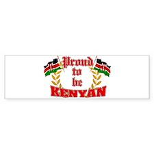 Proud to be Kenyan Bumper Bumper Sticker
