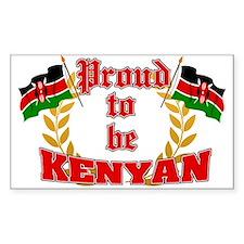 Proud to be Kenyan Rectangle Decal