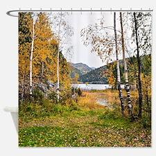 Autumn Lake View Shower Curtain