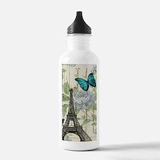floral paris vintage e Water Bottle