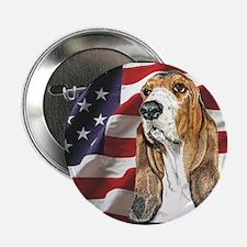 Basset Hound USA Flag Button