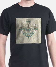 shabby chic damask vintage chandelier T-Shirt