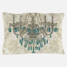 shabby chic damask vintage chandelier Pillow Case