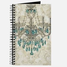 shabby chic damask vintage chandelier Journal