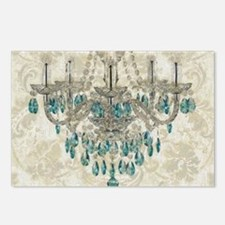 shabby chic damask vintag Postcards (Package of 8)