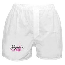 Alejandra Artistic Name Design with F Boxer Shorts