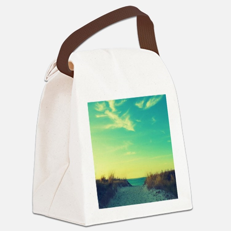 Walk With Love Canvas Lunch Bag