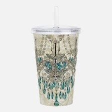 shabby chic damask vin Acrylic Double-wall Tumbler