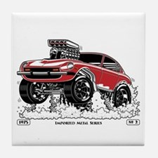 280Z Gasser Wheelie-3 Tile Coaster