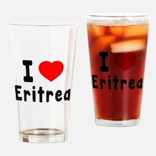 I Love Eritrea Drinking Glass