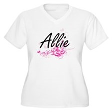 Allie Artistic Name Design with Plus Size T-Shirt