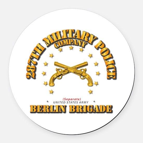 287th Mp Company - Berlin Brigade Round Car Magnet